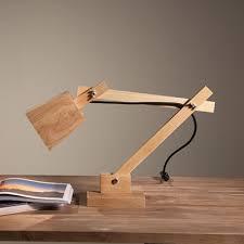Wooden Table Lamp High Cube Shaded Swing Arm Elegant Designer Wood Table Lamp 20 8