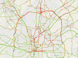 San Francisco Traffic Map by Atlanta Traffic Hits Peak Terribleness As Workweek Progresses