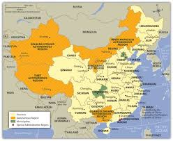 Population Map Of China by East Asia