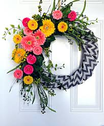 front door fascinating front door spring wreath for home design