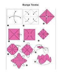 cara membuat origami bunga dari uang kertas langkah langkah membuat origami bunga teratai fachri s blog