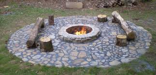 Firepit Outdoor Landscaping Ideas On Pinterest Pits Patio Design Rustic