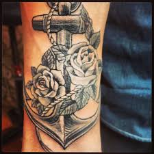 flowers and anchor tattoos anchor tattoos