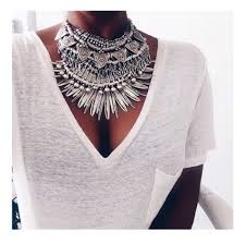 silver boho necklace images Jewels necklace silver boho bohemian gypsy statement big jpg