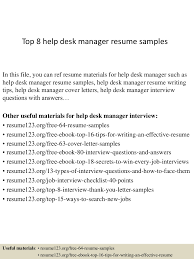 Resume Help by Top8helpdeskmanagerresumesamples 150410090021 Conversion Gate01 Thumbnail 4 Jpg Cb U003d1428674478