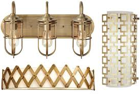 Brass Bathroom Lights Report From Kbis What S New In Bathroom Lighting Style