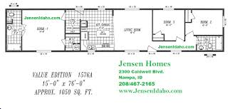1576 3br 2ba single wide 1050sf