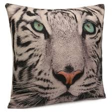 Animal Home Decor by 3d Animal Cat Dog Tiger Face Throw Pillow Case Sofa Office Car