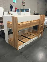 Single Lowline Bunk NEW DESIGN Two Tone Or All White Goingbunksbiz - Lo line bunk beds