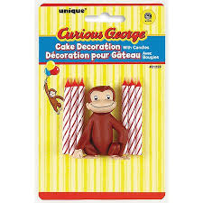 curious george cakes curious george cake topper and birthday candle set walmart