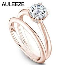 classic diamond rings images Classic diamond bridal set 14k solid rose gold lab grown diamond jpg