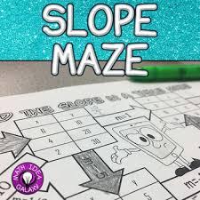 slope activity 8th grade math algebra and maze