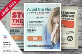 flu shot campaign flyer templates flyer templates creative market