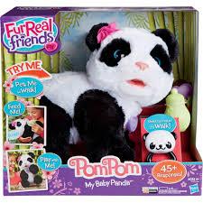 furreal friends pom pom my baby panda pet walmart com