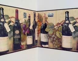 wine and grapes wallpaper border by village kitchen boarders