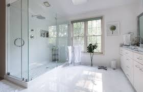 ideas for bathroom showers elegant bathroom ideas with rainfall shower head and doorless shower