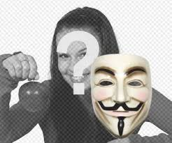 anonymous mask can wear the anonymous mask with this sticker