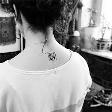 tattoo neck care hc1100 waterproof temporary tattoo sticker security prompt pattern