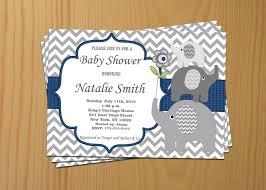 baby shower invitations astounding elephant baby shower