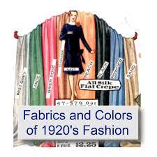 fabrics and colors of 1920 u0027s fashions