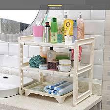 under sink storage tidy amazon co uk kitchen home white adjustable extendable multi purpose kitchen bathroom under