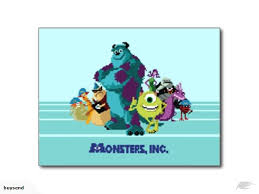 disney monsters characters postcard trade
