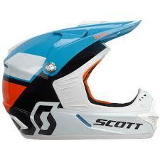 scott motocross helmets scott 350 race ece kids blue orange offroad helmets exclusive