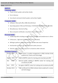 Pharmaceutical Quality Control Resume Sample by Pharmaceutical Qc Manager Resume Contegri Com
