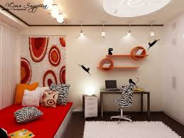 cool study desk design ideas in white and red kids bedrooms home