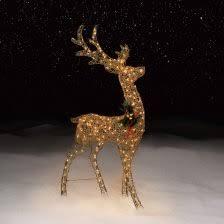 lighted reindeer charming lighted deer 1 overstock heritagegalleryoflace