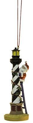 santa hatteras lighthouse island ornament by