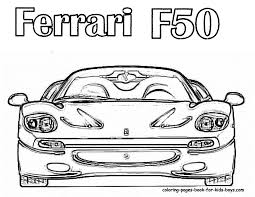 cars coloring page f50 for colouring pages kids at coloring