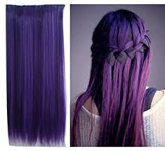 purple hair extensions uniwigs purple color clip in hair extension 60cm