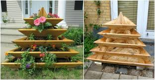 How To Build A Vertical Garden - how to build a pyramid planter vertical garden how to instructions