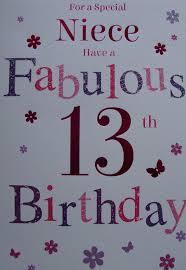 for a special niece 13 today birthday card u2013 13th birthday black