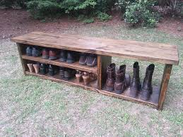 bench stunning rustic shoe bench rustic entryway bench boot
