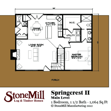 Timber Home Floor Plans by Springcrest Ii Log Plan Stonemill Log U0026 Timber Homes