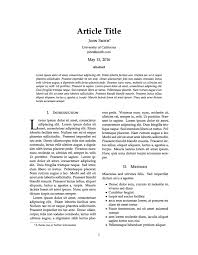 journal paper template templates journal article