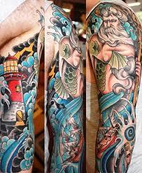 poseidon mythology sleeve designs insigniatattoo com
