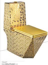 bathroom ceramic golden luxury one piece toilet prices kd t004gp