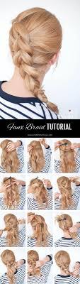 braided hairstyle instructions step by step braid cheat pull through braid tutorial