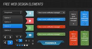 free web designer free ui web elements kit psd free web resource