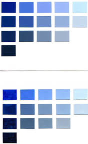 Different Shades Of Green Paint Blue Color Chart In Color