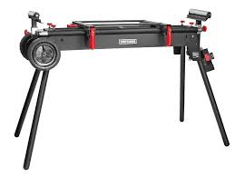universal table saw stand with wheels craftsman deluxe miter saw stand