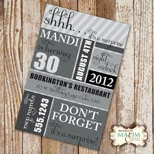 30th surprise birthday party invitations alanarasbach com