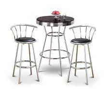 Retro Bar Table The Furniture Cove 3 Retro Black Bistro Table Pub Set With