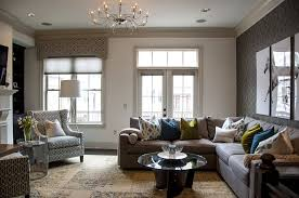 fancy decorating living room with sectional sofa with dark brown