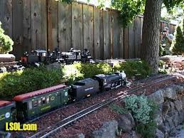 7 best gardens with trains images on pinterest model train