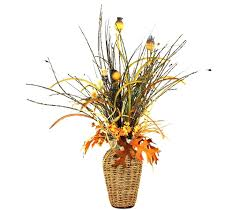 Silk Flower Arrangements For Dining Room Table Custom Basket Weave Silk Flower Arrangement Large Table