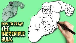 draw incredible hulk easy step step drawing